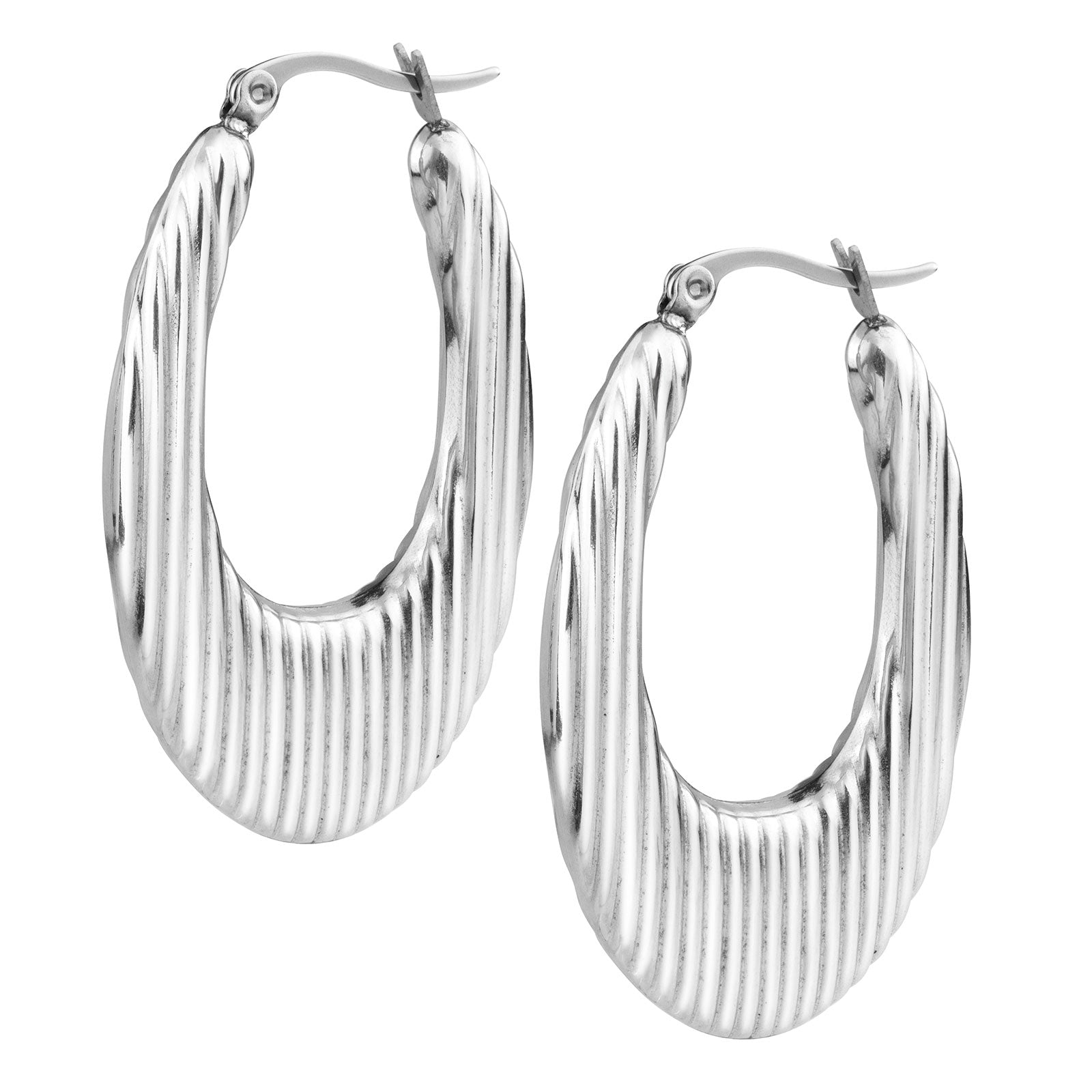FSER59-A Stainless Steel Shrimp Earrings