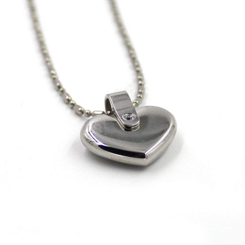 INP71 Stainless Steel Heart Pendant