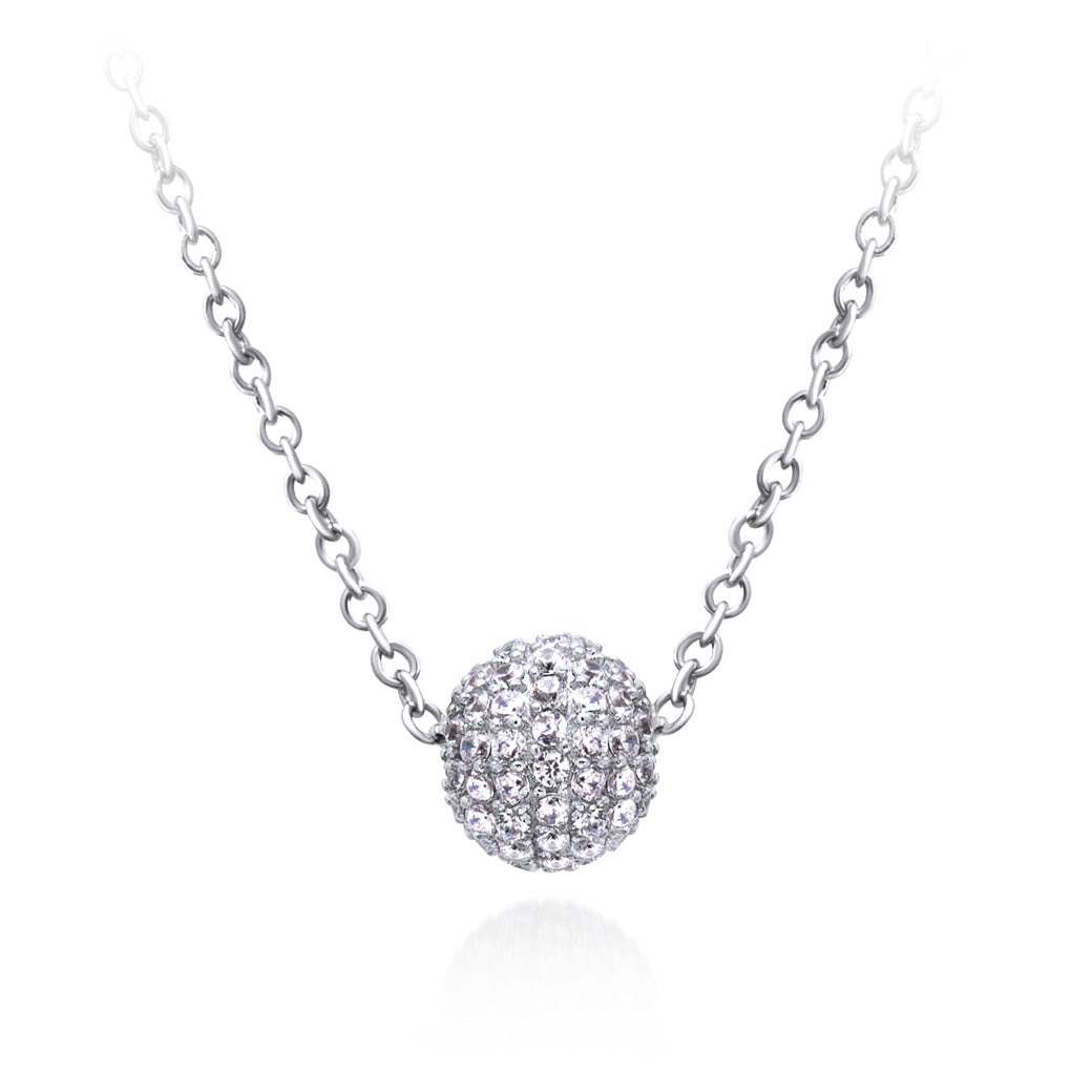 MD-SLN007 Silver Cluster Ball Necklace