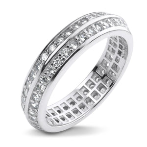 MD-SLR049 Silver Double Row Band