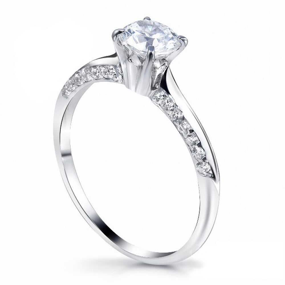 MD-SLR091 Silver Engagement Ring