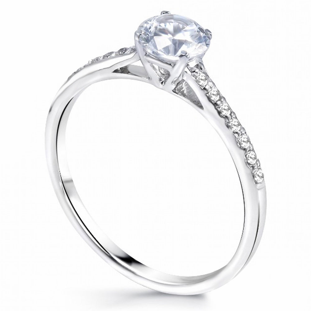 MD-SLR134 Sterling Silver Engagement Ring