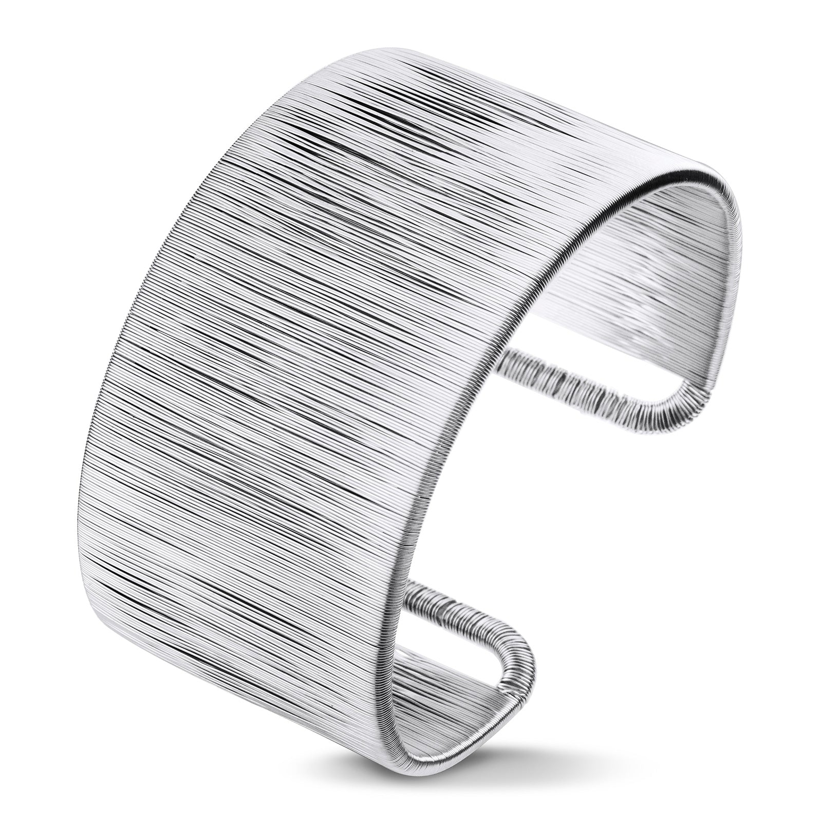 MNC-BG113-A Stainless Steel Wide Cuff Bracelet