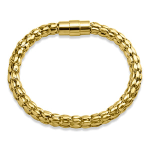MNC-BG320-B Steel Gold-Plated Bracelet