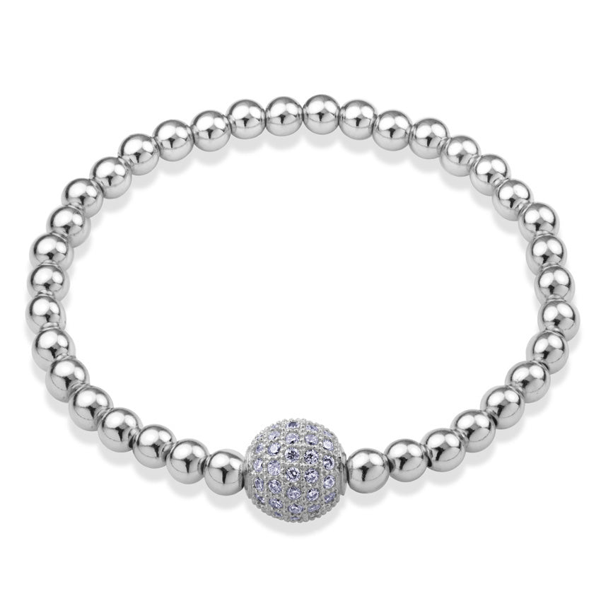 MNC-BR362-A Stainless Steel Ball Bracelet