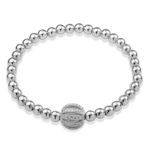 MNC-BR365-A Stainless Steel Thin Beaded Bracelet