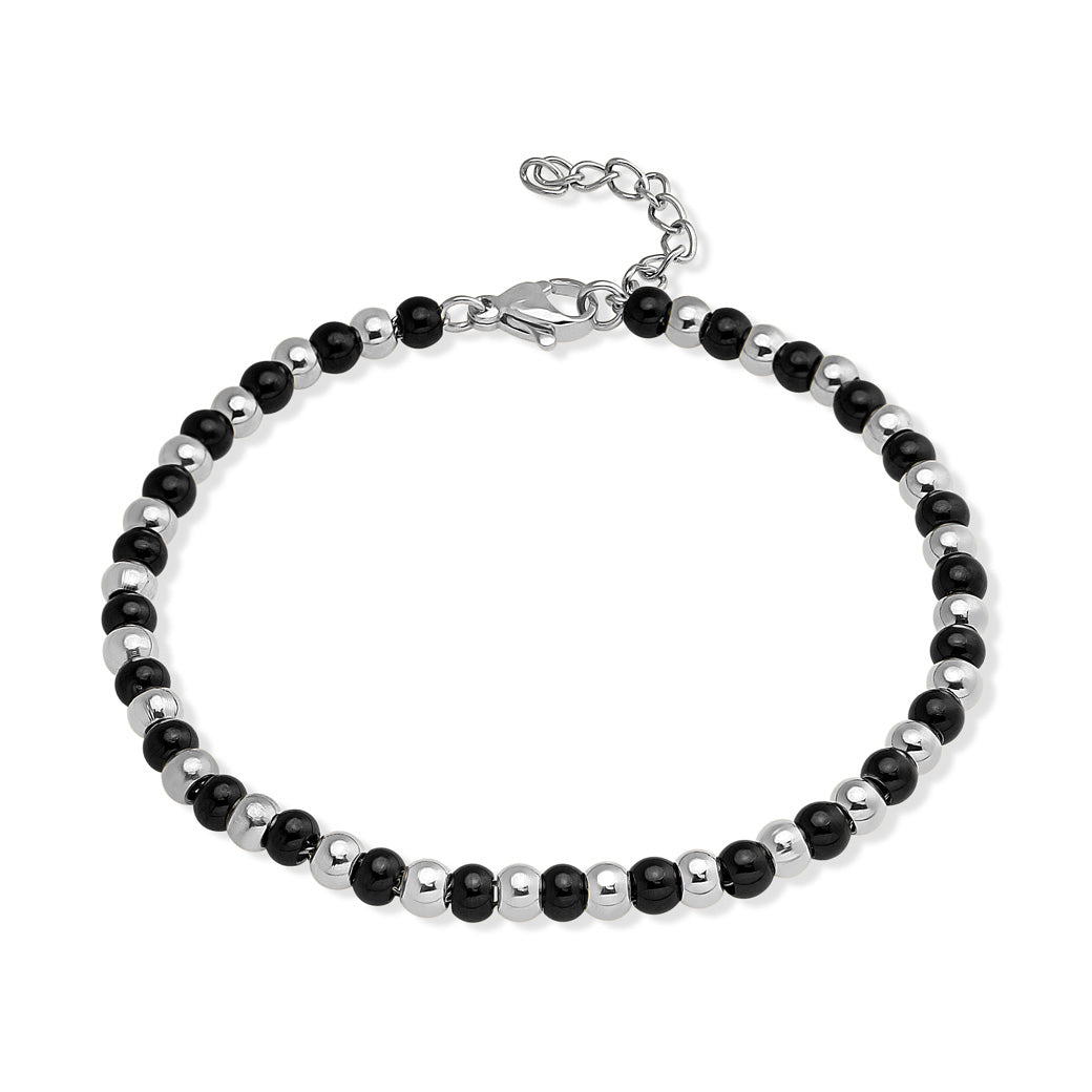 MNC-BR521-D1 Stainless Steel Beaded Bracelet