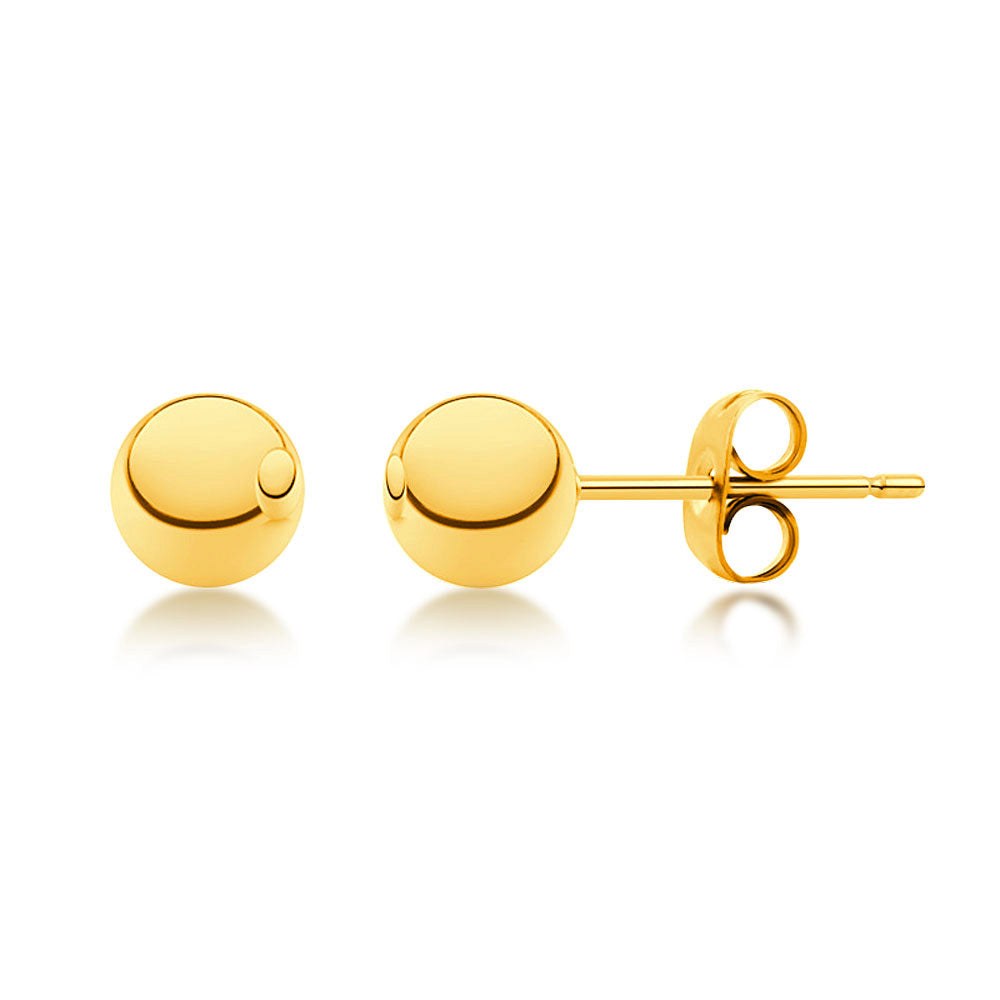 MNC-ER340-B-5mm Stainless Steel & Gold Stud Earrings
