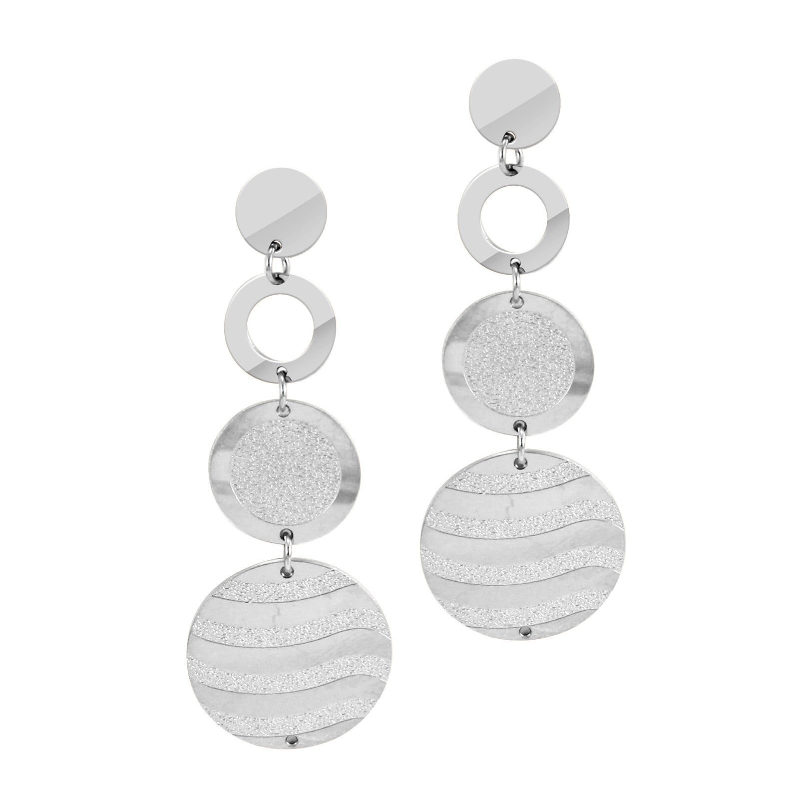 MNC-ER371-A Stainless Steel Drop Earrings