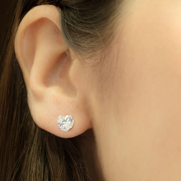 MNC-ER426-A Stainless Steel Heart Stud Earrings