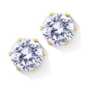 MNC-ER427-B-4mm Steel & Yellow Gold Small Stud Earrings