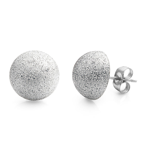 MNC-ER561-A-12mm Steel Domed Stud Earrings