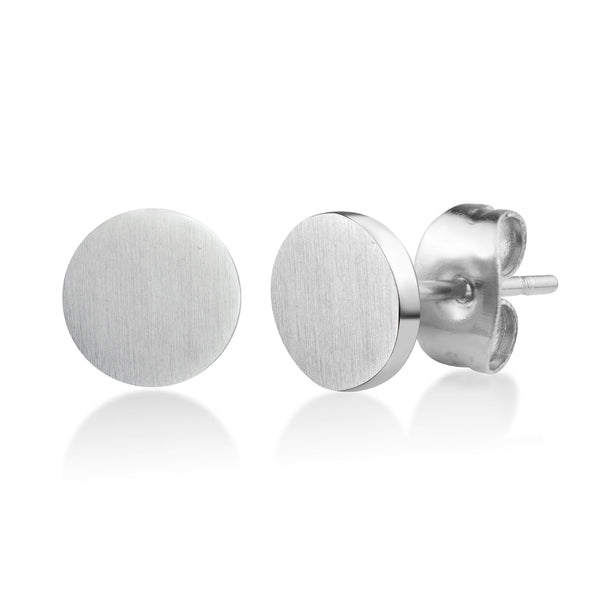 MNC-ER633-A Stainless Steel Disc Earrings