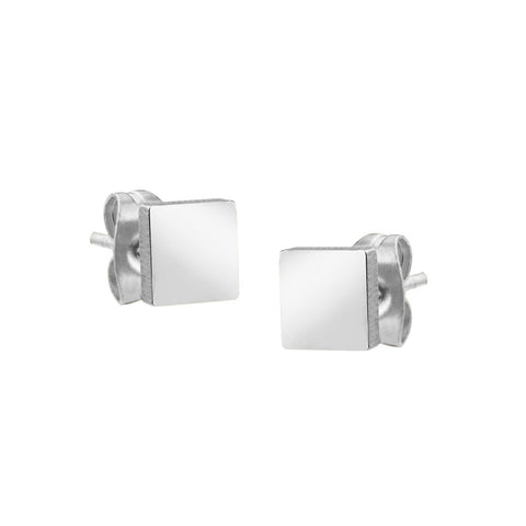 MNC-ER655-A Stainless Steel Square Stud Earrings