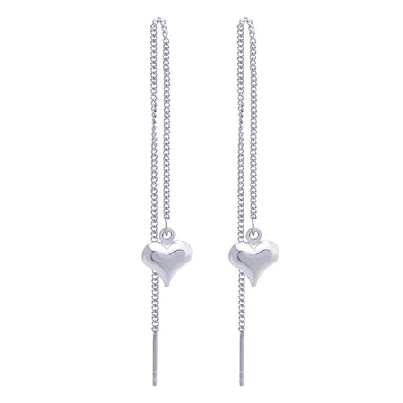 MNC-ER797-A Stainless Steel Threaded Heart Earrings
