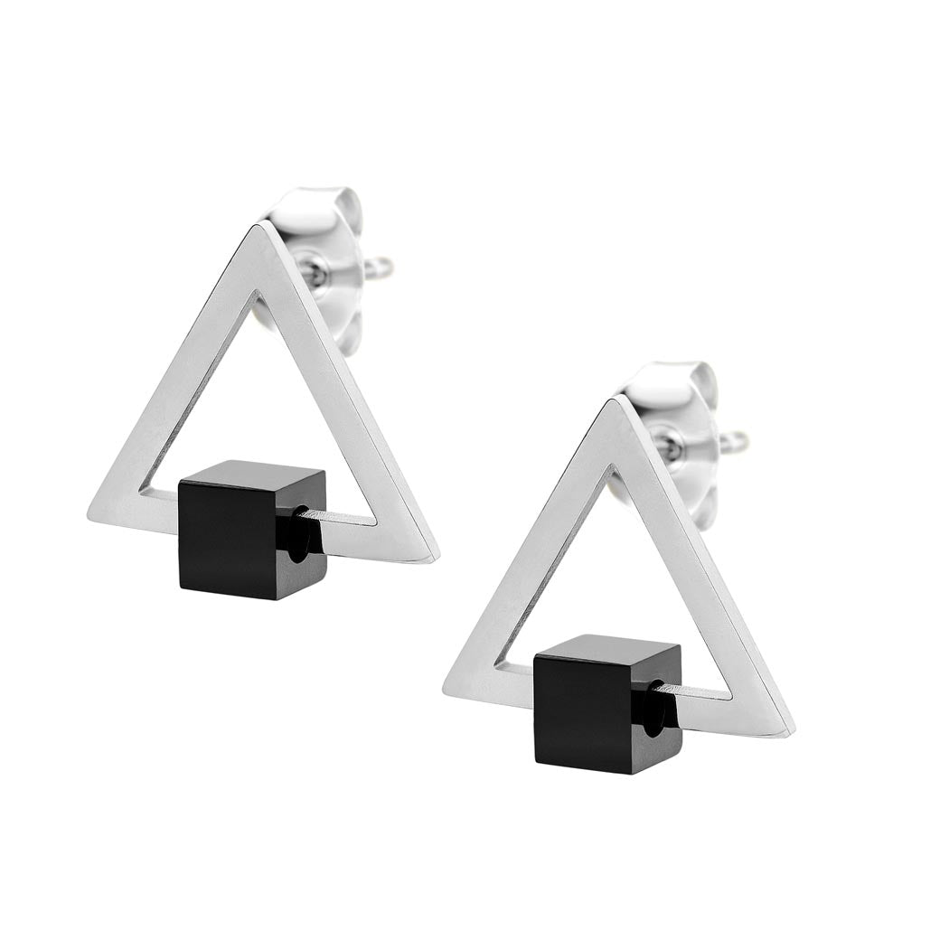 MNC-ER893-A Stainless Steel Triangle Stud Earrings