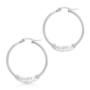 MNC-ER967-A Stainless Steel Hoop Earrings
