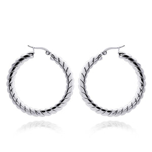 MNC-ER973-A Stainless Steel Hoop Earrings