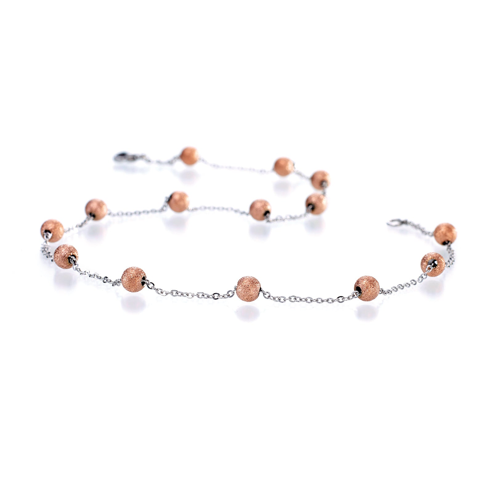 MNC-N019-C Steel Necklace - Rose Gold 18-inch