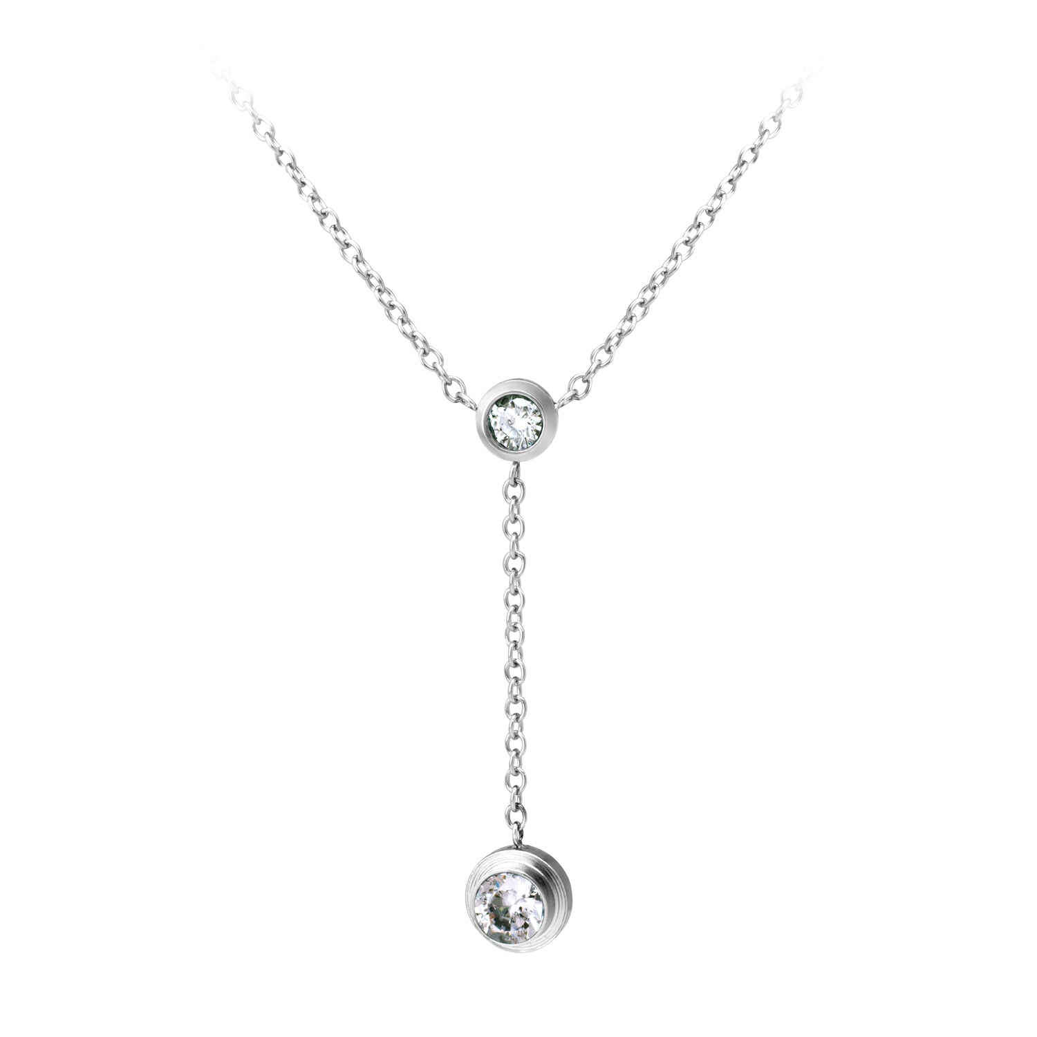 MNC-N212-A Stainless Steel Drop Necklace