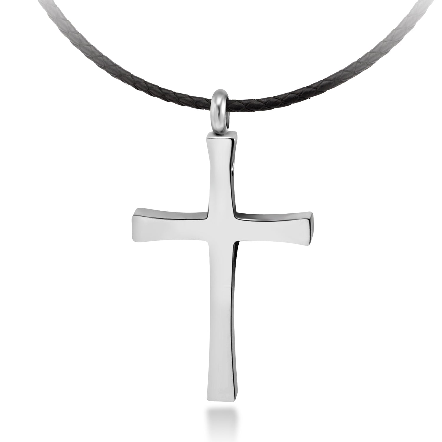 MNC-N226-A Stainless Steel Corded Cross Necklace