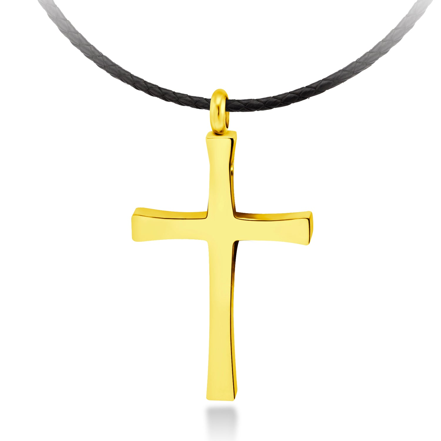 MNC-N226-B Stainless Steel Gold Cross Pendant