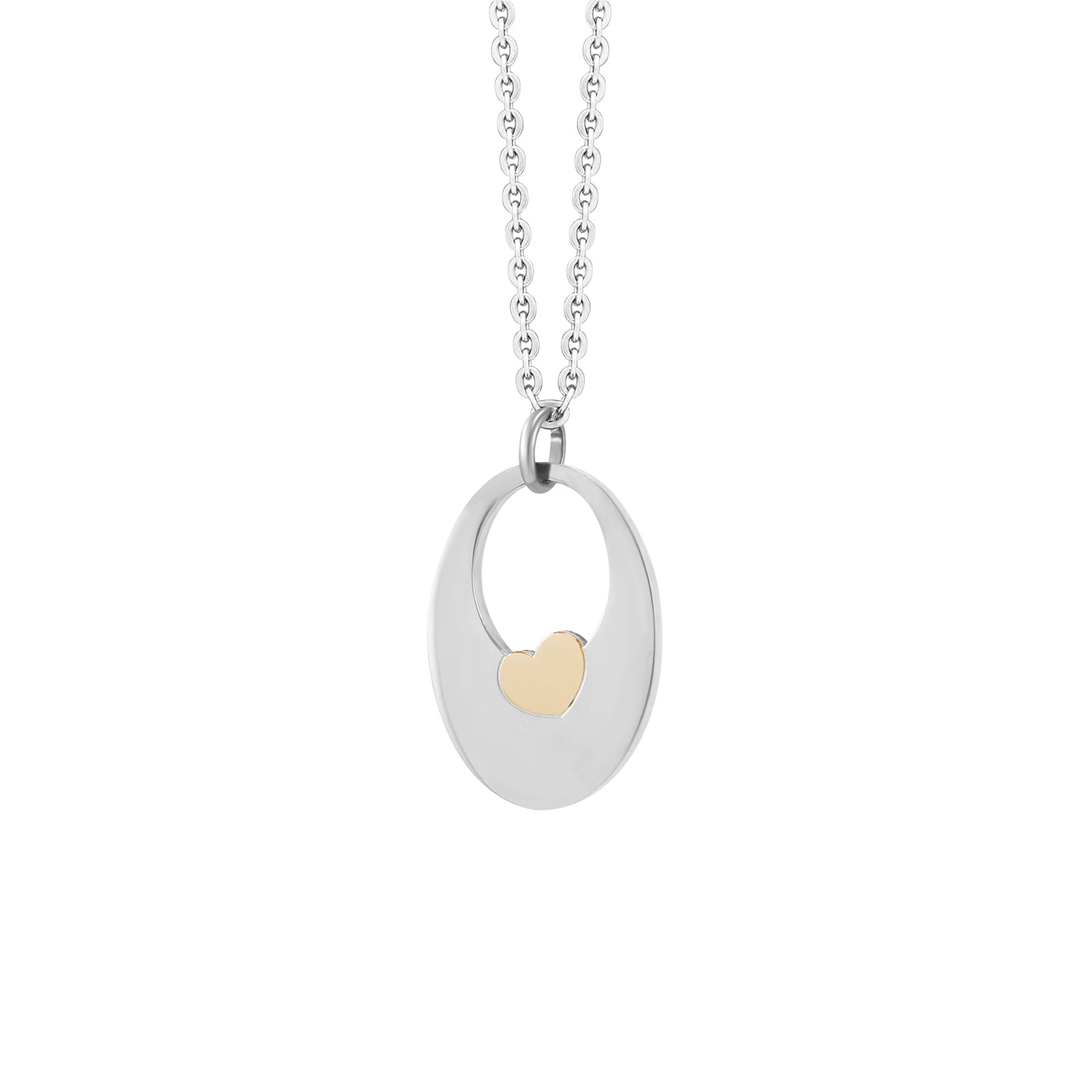 MNC-P147-A Stainless Steel Pendant with Heart