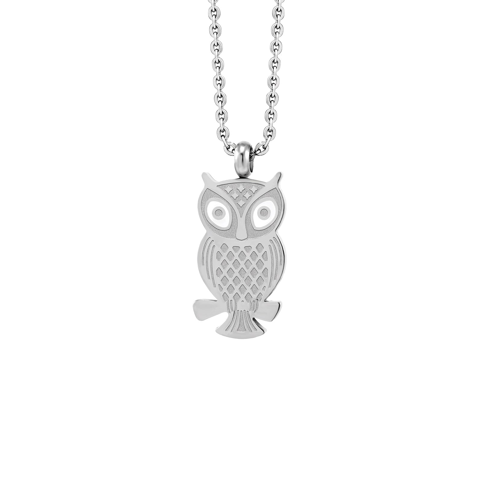MNC-P403-A Stainless Steel Owl Pendant