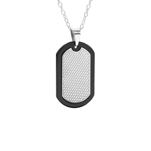 MNC-P404-D Stainless Steel Dog Tag Pendant