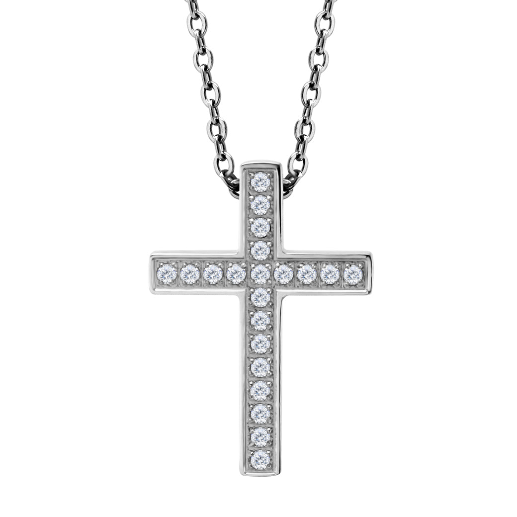 MNC-P515-A Stainless Steel Cross Pendant Necklace