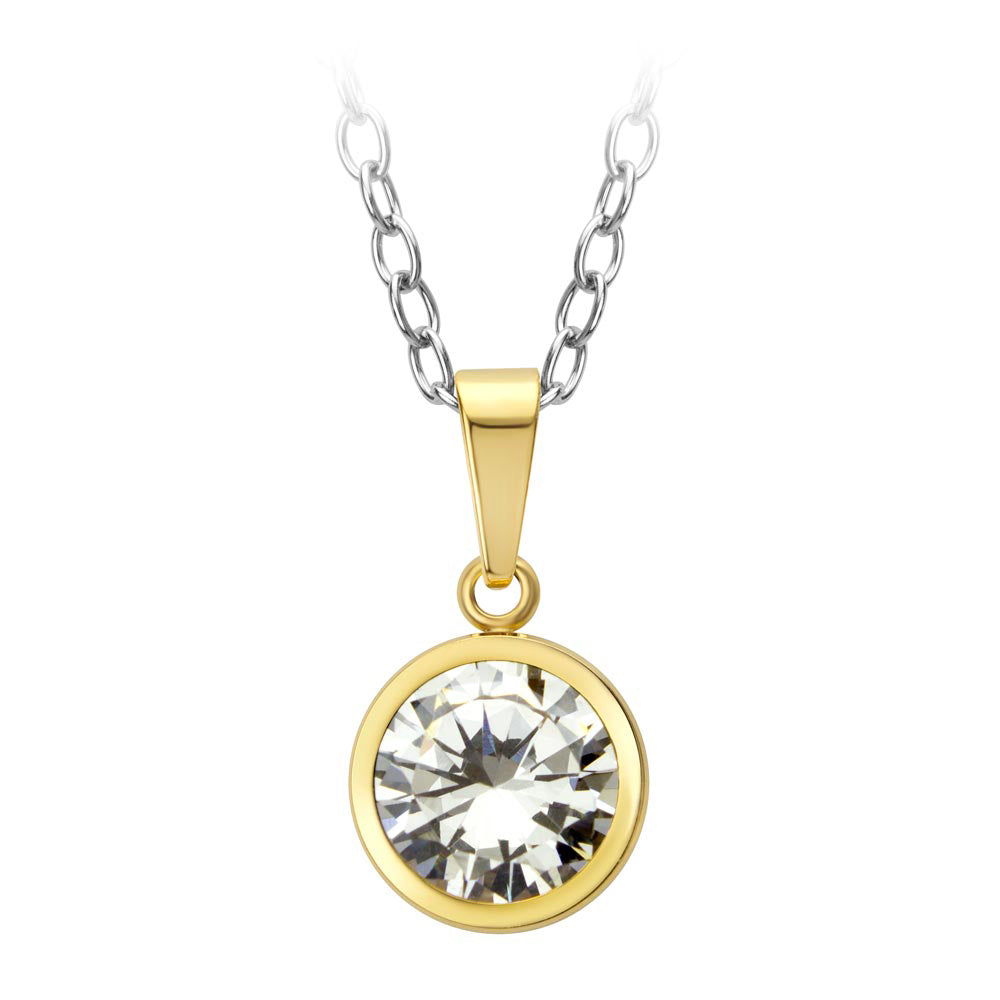 MNC-P526-B Stainless Steel Pendant Necklace