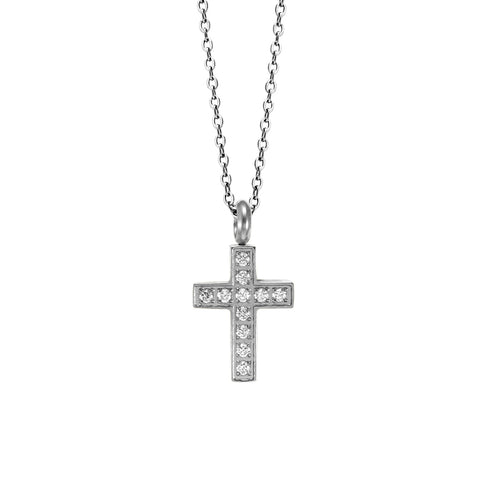 MNC-P642-A Stainless Steel Small Cross Pendant Necklace