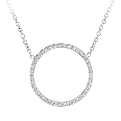 MNC-P664-A Stainless Steel Circle Necklace