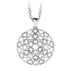 MNC-P703-A Stainless Steel Hearts Pendant