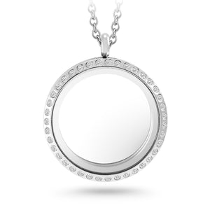 MNC-P778-A-30mm Stainless Steel Clear Locket