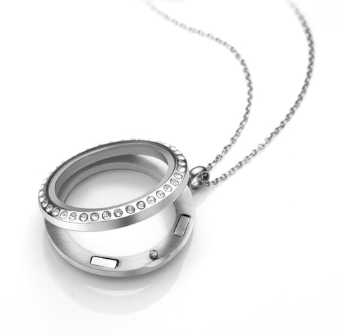 MNC-P778-A-25mm Stainless Steel Clear Locket
