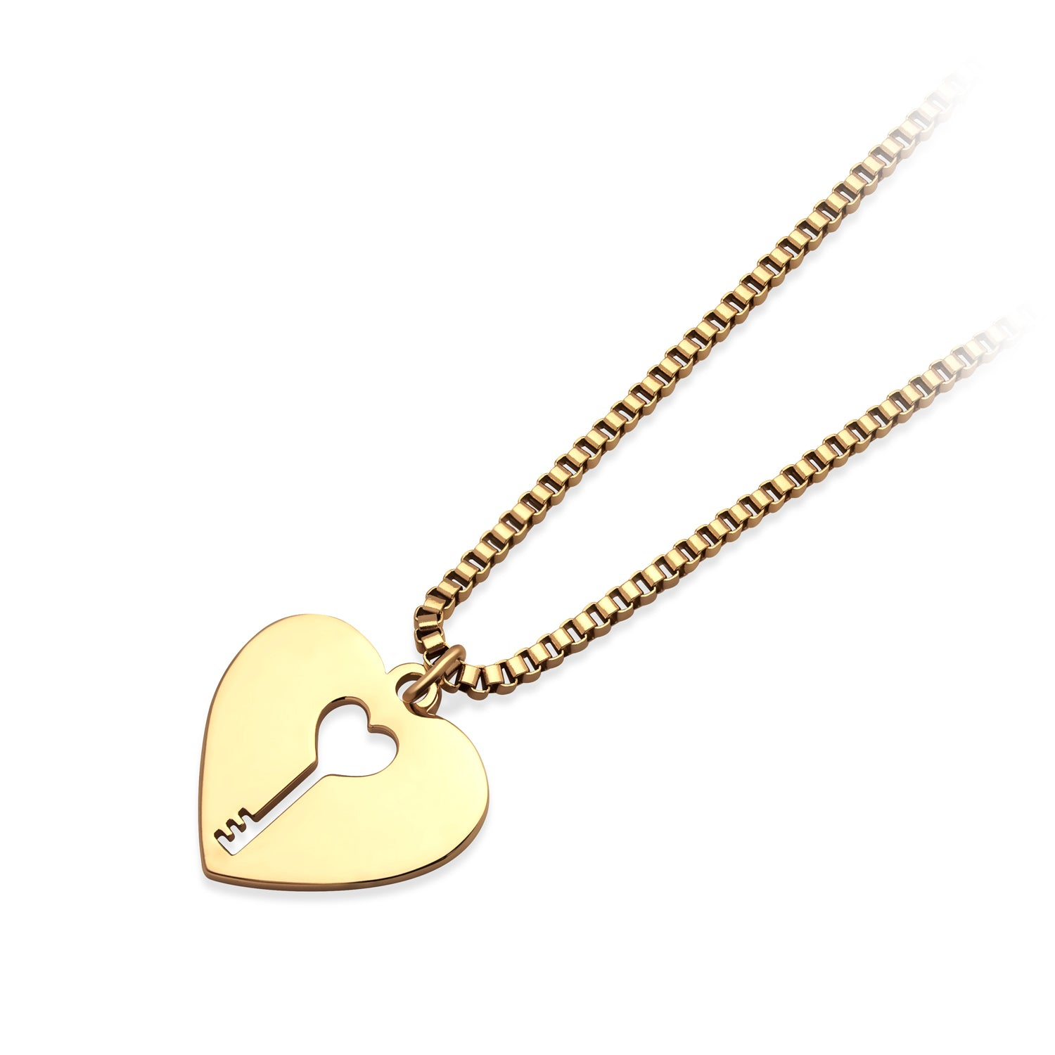 MNC-P909-B Stainless Steel Gold Heart Pendant