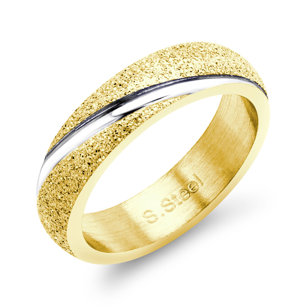 MNC-R432-B Stainless Steel & Gold Ring