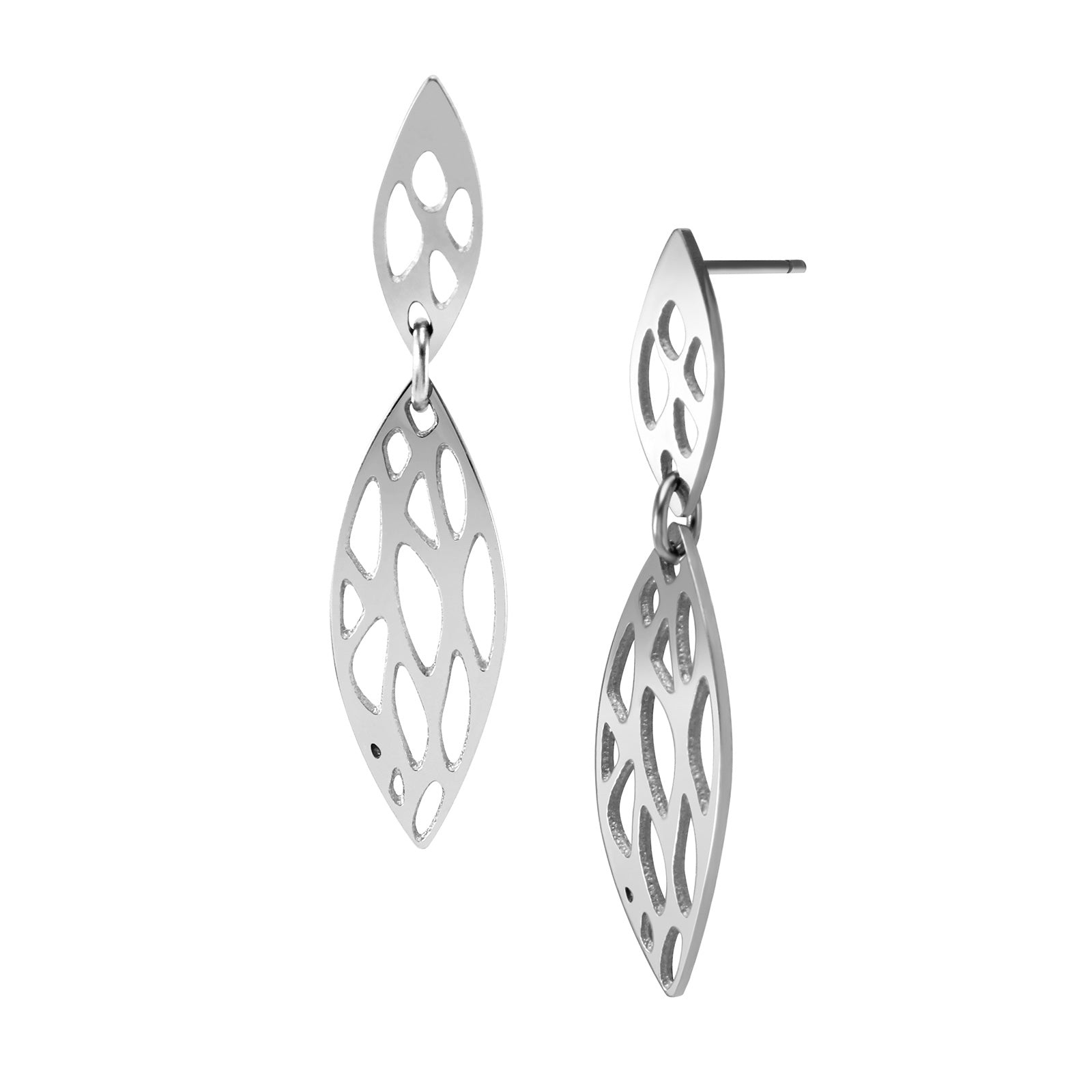 MNER-057T-A Stainless Steel Dangling Earrings