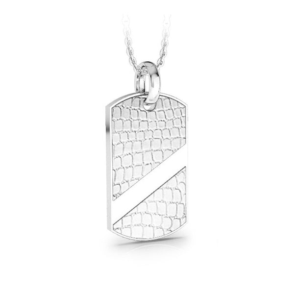 MNP-043T-A Stainless Steel Dog Tag Pendant