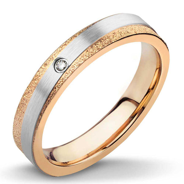 MNR-230T-C Stainless Steel & Rose Gold Ring