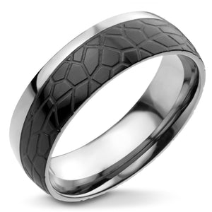 MNR-318T-D Stainless Steel & Black Ring