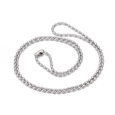 Stainless Steel 2.3mm Beaded Chain