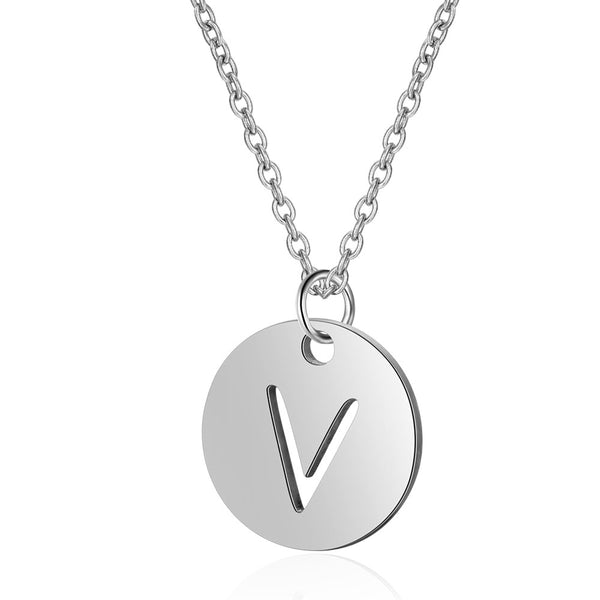 Choose Your Initial – Stainless Steel Pendant Necklace
