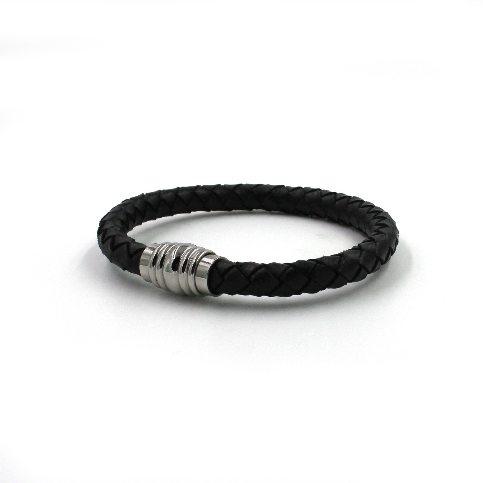 OEMBR03 Leather & Steel Bracelet