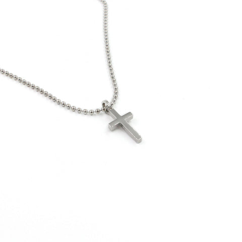 SBCross5 Small Cross Pendant Necklace