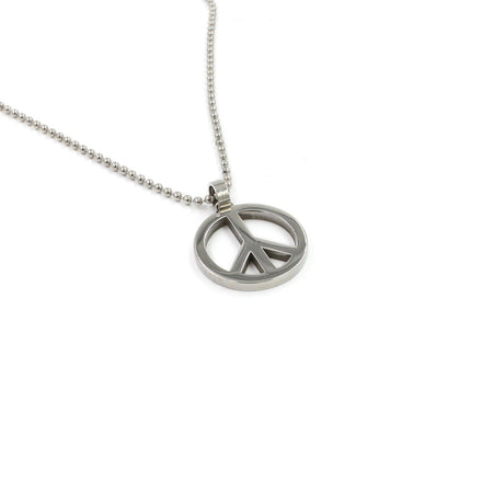 SBPeace3 Large Peace Pendant Necklace