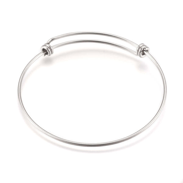 Stainless Steel Sliding Bangle Bracelet