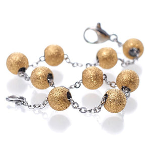 MNC-BR048-B 40Nine Gold Ball Bracelet