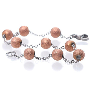 MNC-BR048-C 40Nine Pink Gold Ball Bracelet
